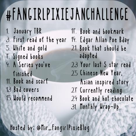 January Bookstagram challenge